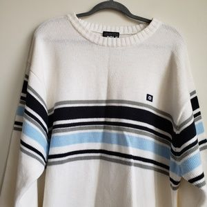 South Pole Striped Knit Sweater